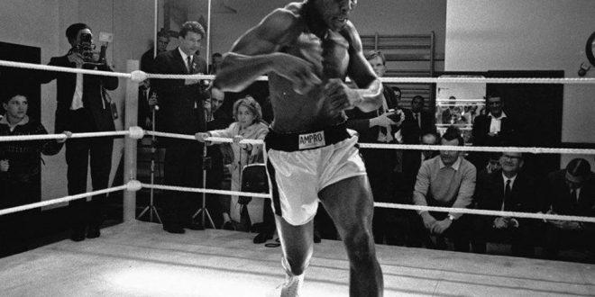 بالصور مسيرة الملاكم العالمي#محمد_ علي_كلاي ..بالإنجليزية:Cassius Marcellus Clay, Jr..ولد بولاية كنتاكي عام – 1942م–2016م..وهوملاكمأمريكي..- مشاركة المصور: Tony Moose Sutton